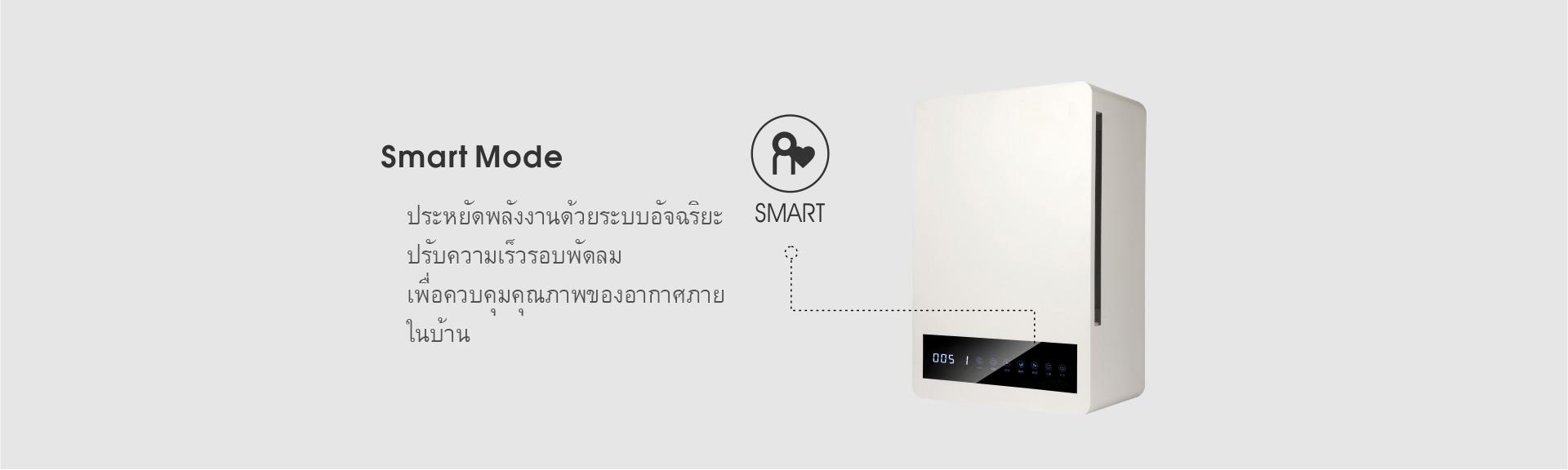 ประหยัดพลังงานด้วยระบบอัจฉริยะในเครื่องเติมอากาศ(Smart Mode)