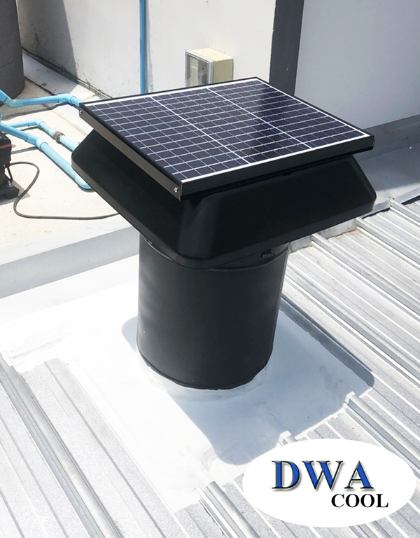 Solar Roof Ventilation for Townhome