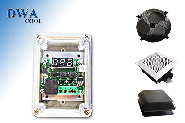 อุปกรณ์ควบคุมพัดลมระบายอากาศด้วยอุณหภูมิแบบปรับค่า