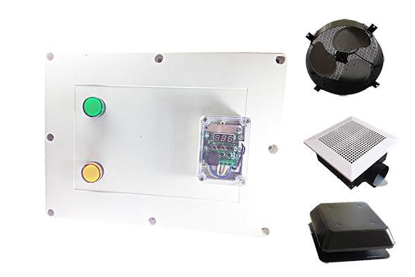 อุปกรณ์ Hybrid AC/DC + อุปกรณ์ควบคุมพัดลมระบายอากาศด้วยอุณหภูมิแบบปรับค่า